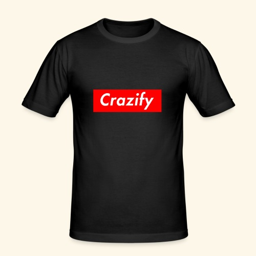 Crazify Red & White - Men's Slim Fit T-Shirt