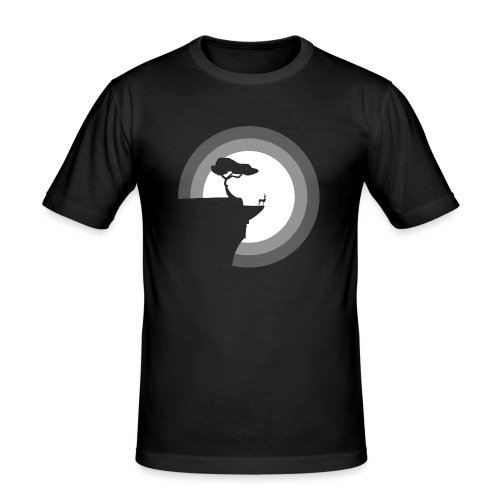 La pleine lune - T-shirt près du corps Homme