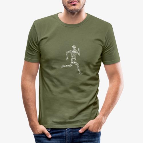 run - Obcisła koszulka męska