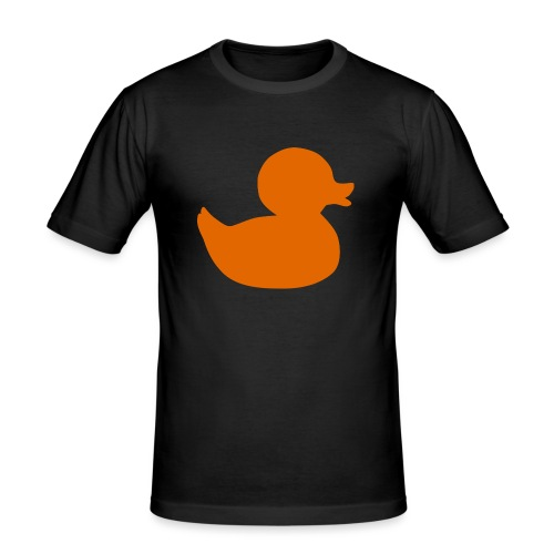Orange duck tee - Men's Slim Fit T-Shirt