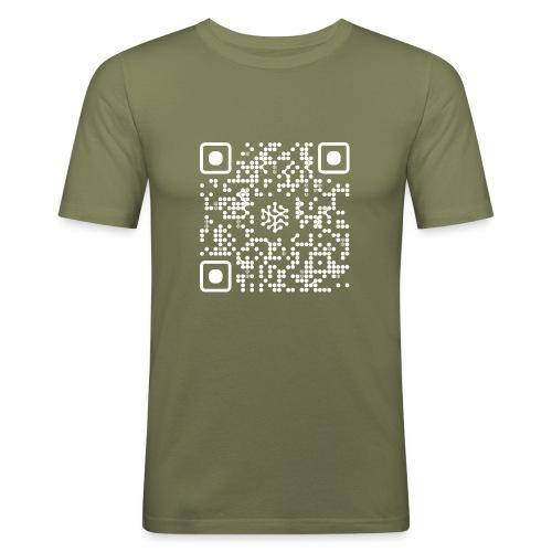 QR Safenetforum White - Men's Slim Fit T-Shirt