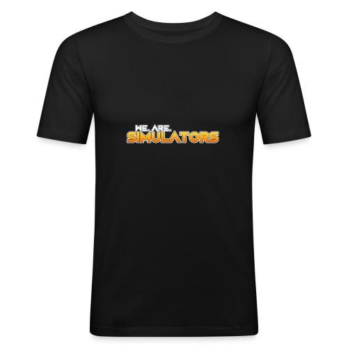 we are simulators tshirt logo - Men's Slim Fit T-Shirt