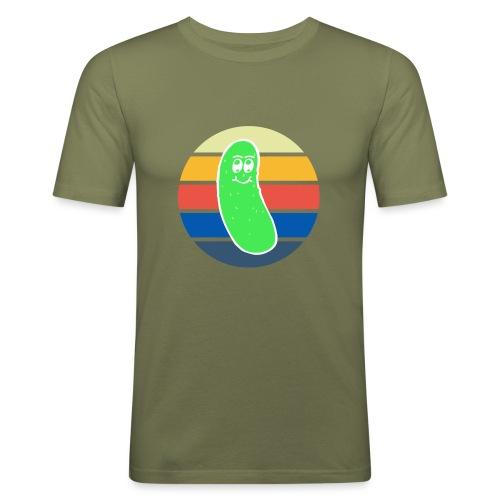 Vintage Colored Pickle #3 - Maglietta aderente da uomo