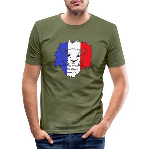 Lion supporter France - T-shirt près du corps Homme