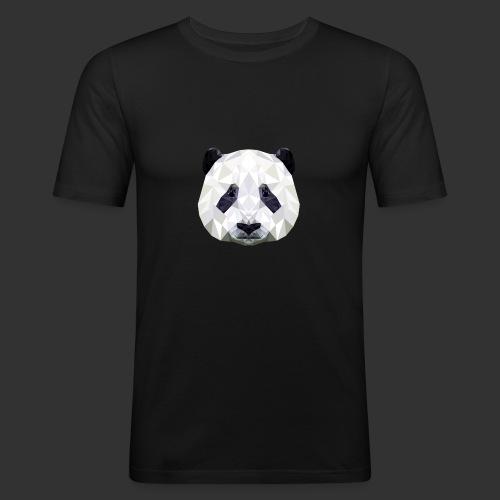 Panda Low Poly - T-shirt près du corps Homme