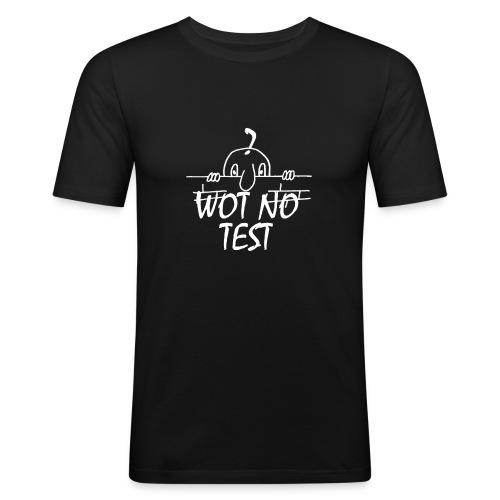 WOT NO TEST - Men's Slim Fit T-Shirt