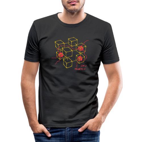 Connection Machine CM-1 Feynman t-shirt logo - Men's Slim Fit T-Shirt
