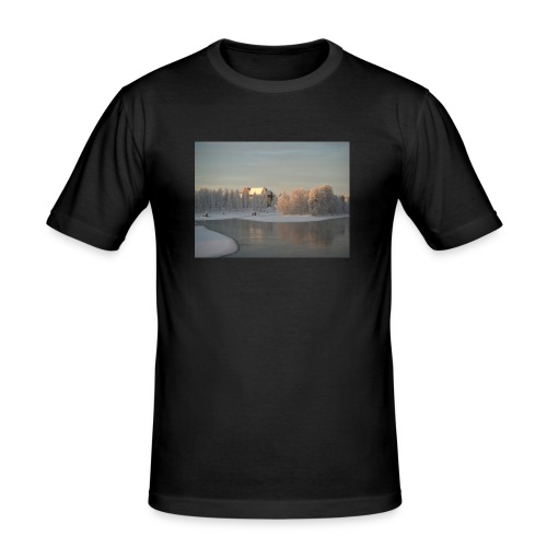 Talvinen Joensuu - Miesten tyköistuva t-paita