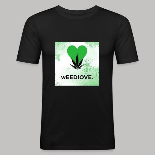 weedlove - Männer Slim Fit T-Shirt