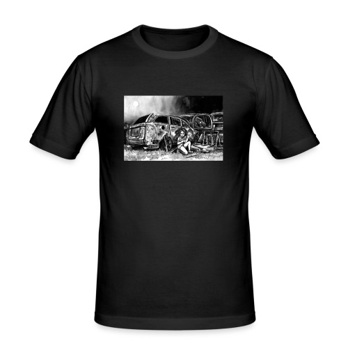 Scarlett Bush hiding from Zombies in Virginia - Men's Slim Fit T-Shirt