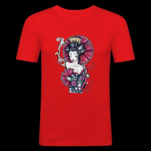 Geisha2 - Maglietta aderente da uomo