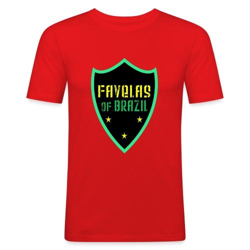 FAVELAS OF BRAZIL NOIR VERT DESIGN - T-shirt près du corps Homme
