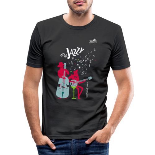 3Jazzy Blumen - Männer Slim Fit T-Shirt