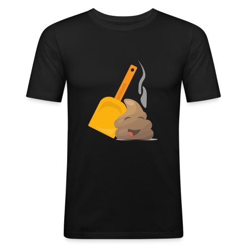 Funny Poop Emoji - Men's Slim Fit T-Shirt