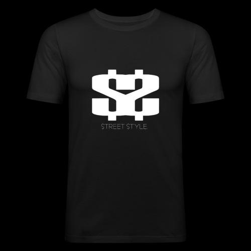 $$ WHITE LOGO - Slim Fit T-shirt herr