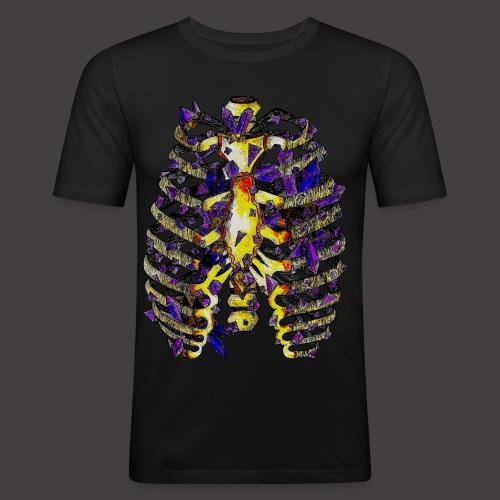 La Cage Thoracique de Cristal Creepy - T-shirt près du corps Homme