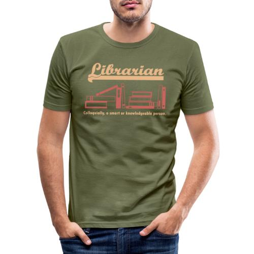 0333 Cool saying funny Quote Librarian - Men's Slim Fit T-Shirt