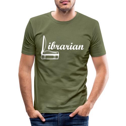 0325 Librarian Librarian Cool design - Men's Slim Fit T-Shirt
