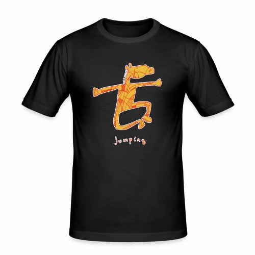 Jumping Horse - Mannen slim fit T-shirt