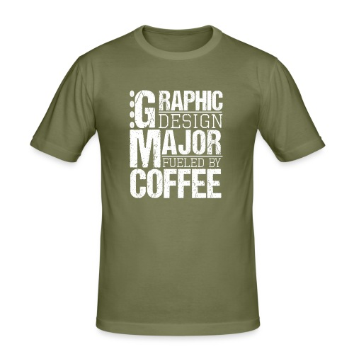 Graphic Design Major Fueled By Coffee - Männer Slim Fit T-Shirt