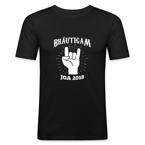 Bräutigam JGA Shirt - Junggesellenabschied T Shirt - Männer Slim Fit T-Shirt