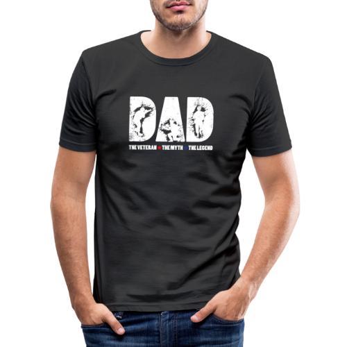 Dad The Veteran The Myth The Legend Cool Gift - Camiseta ajustada hombre