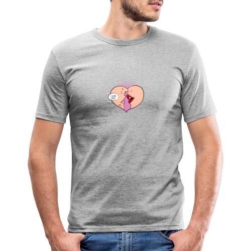 Je t'aime - T-shirt près du corps Homme