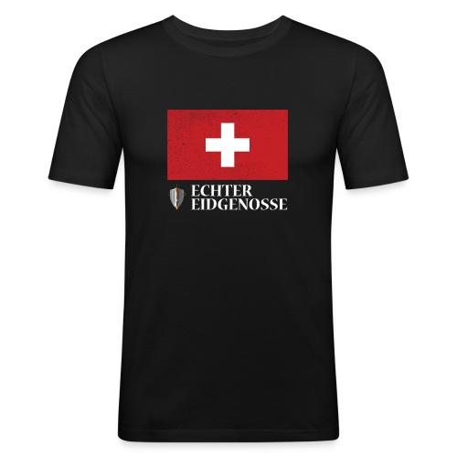 Echter Eidgenosse Schweiz - Männer Slim Fit T-Shirt