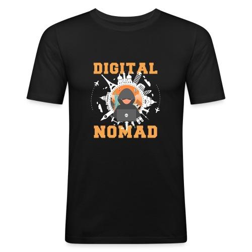 Digital Nomad - Männer Slim Fit T-Shirt