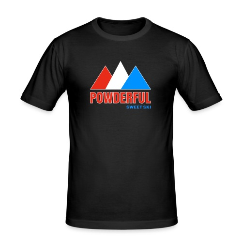 Powderful Sweet Ski - Männer Slim Fit T-Shirt
