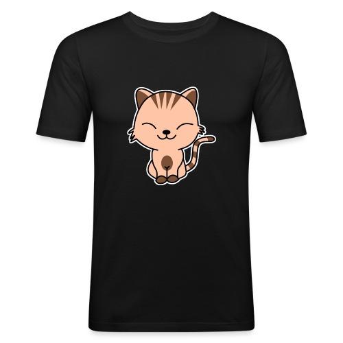 Fröhliche Katze - Männer Slim Fit T-Shirt