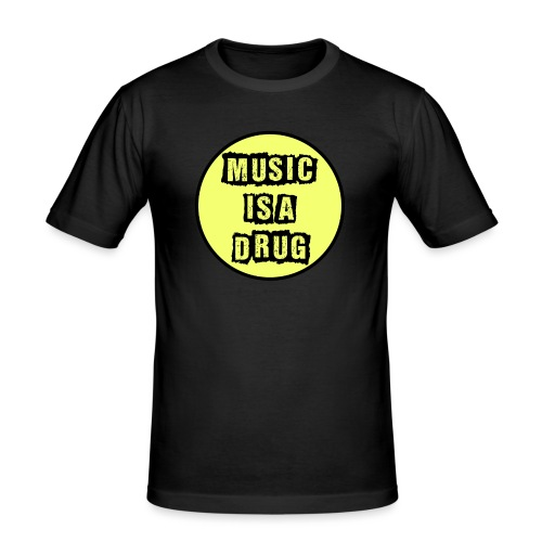 Music is a drug - Männer Slim Fit T-Shirt