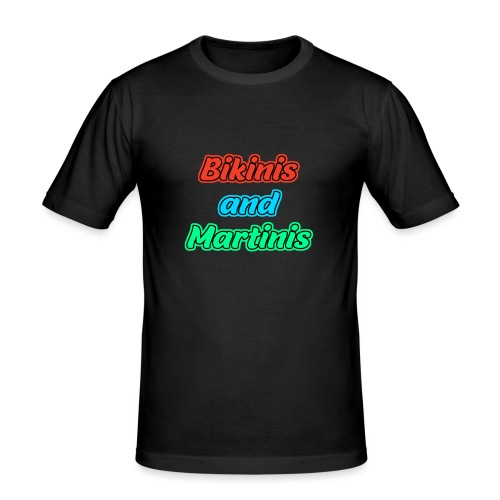 Bikinis & Martinis - Männer Slim Fit T-Shirt