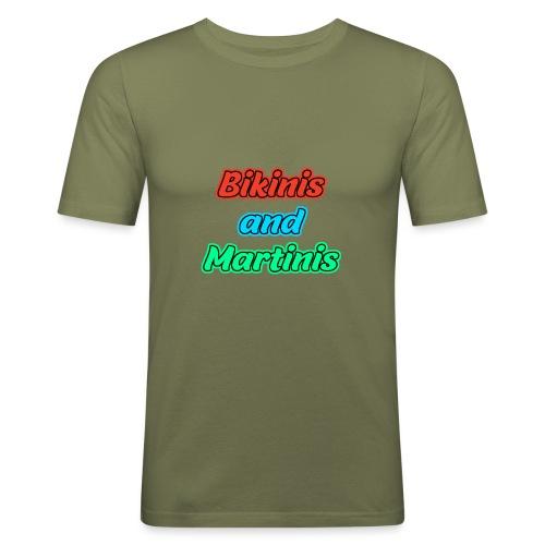 Bikinis & Martinis - Männer Slim Fit T-Shirt