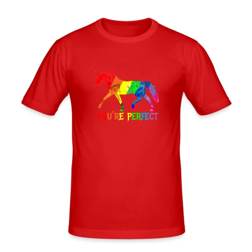 Regenbogen Einhorn - You´re perfect - Männer Slim Fit T-Shirt