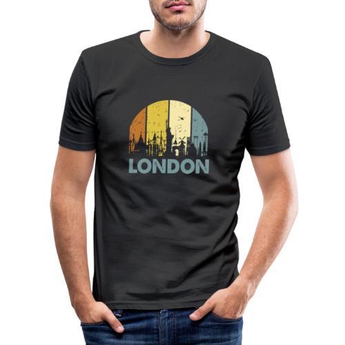 Vintage London Souvenir - Retro Skyline London - Männer Slim Fit T-Shirt