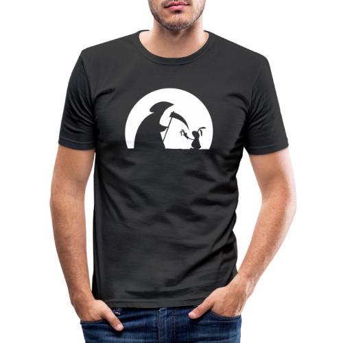 Hase Kaninchen Möhre Tod Sensenmann Karotte bunny - Männer Slim Fit T-Shirt