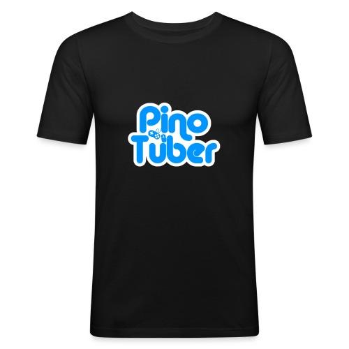 New logo Pinotuber - Mannen slim fit T-shirt