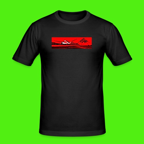 PAW-Kites Wallpaper - Men's Slim Fit T-Shirt