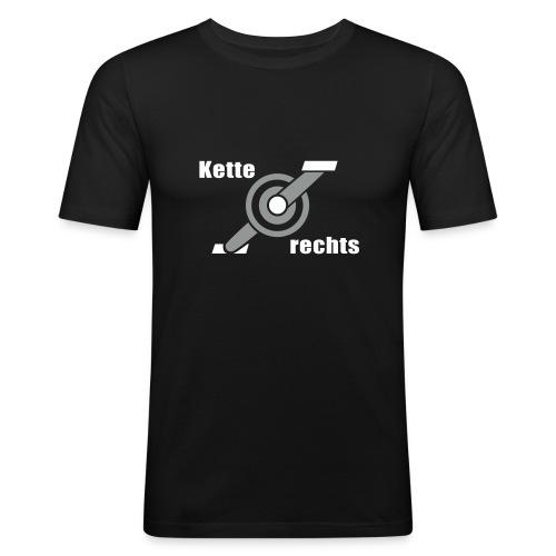 Kette rechts - Fahrrad Rennrad Kurbel - Männer Slim Fit T-Shirt