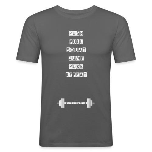 BARBELL PUSH 2 png - T-shirt près du corps Homme