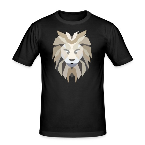 Lion like Zion - Mannen slim fit T-shirt