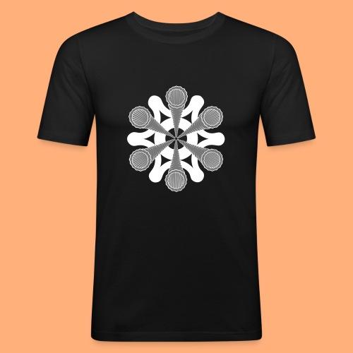 vortex - T-shirt près du corps Homme