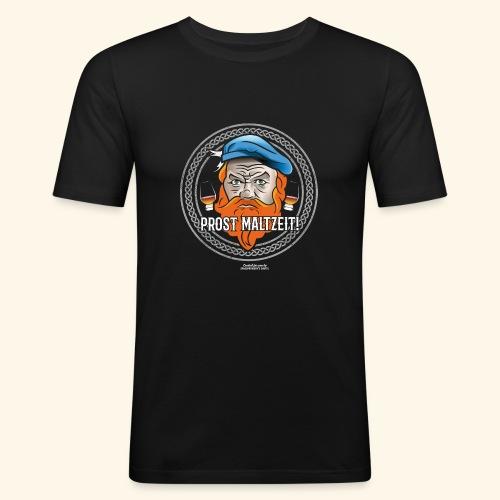 Whisky T Shirt Design Prost Maltzeit - Männer Slim Fit T-Shirt
