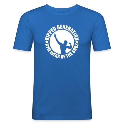 Ripped Generation Logo - Miesten tyköistuva t-paita