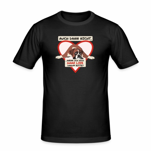 Hundeblick - Männer Slim Fit T-Shirt
