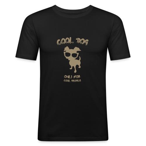 COOL DOG Tortora - Maglietta aderente da uomo