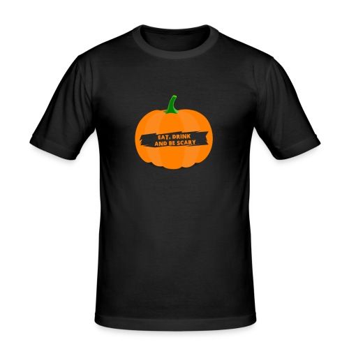 Halloween Pumpkin Shirt for Halloween - Men's Slim Fit T-Shirt