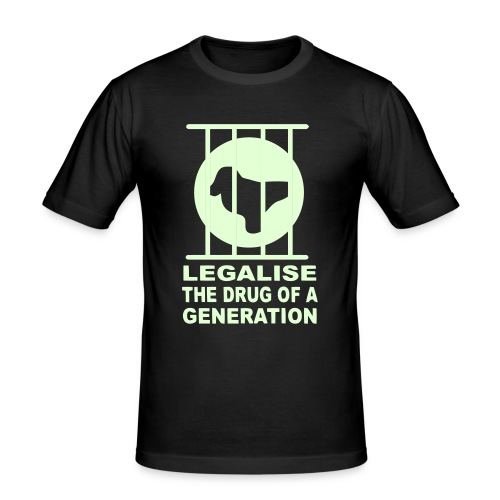 Legalise Ecstasy T-shirt design - Men's Slim Fit T-Shirt