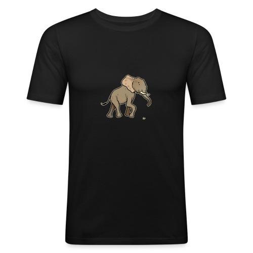 African Elephant (black edition) - Men's Slim Fit T-Shirt